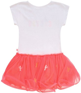 Billieblush Girls Short Sleeve Jersey Top Tutu Dress - White