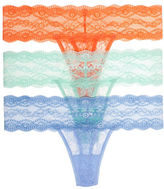B. Tempt'D By Wacoal 3-Pack Lace Thong Panties
