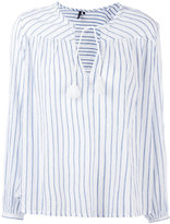 Woolrich striped tassel-tie blouse - women - Cotton - S
