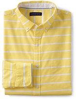 Lands' End Men's Tailored Fit Long Sleeve Buttondown Starport Oxford Shirt-Blue