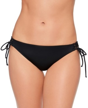 Salt + Cove Juniors' Lace-Up Hipster Bikini Bottoms, Created for Macy's Women's Swimsuit