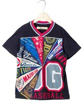 John Galliano Boys' Mesh Paneled Graphic Print Shirt