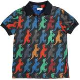 Paul Smith Dinosaurs Print Cotton Piqué Polo Shirt