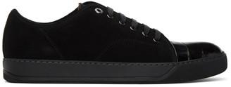 Lanvin Black Croc DBB1 Sneakers