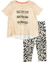 River Island Mini girls leopard print leggings outfit