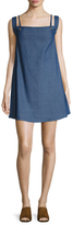 Lucca Couture Tied Denim Shift Dress