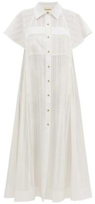 Mara Hoffman Aimilios Stripe-weave Cotton Shirt Dress - White
