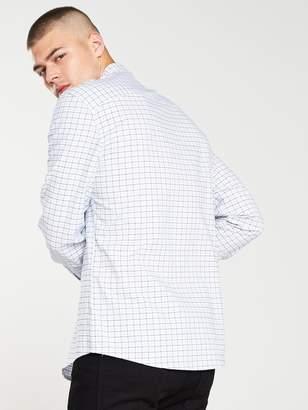 Very Long Sleeved Check Shirt - White/Check
