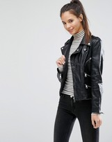 Only Studio Leather Jacket