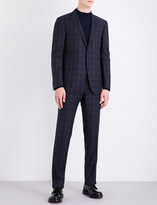Corneliani Windowpane check regular-fit wool suit