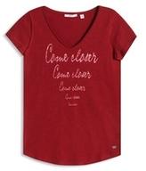 Esprit OUTLET edc - print t-shirt w loose neckline