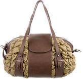 Philosophy di Alberta Ferretti Leather-Trimmed Quilted Satchel