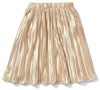 Janie and Jack x Rachel Zoe Gold Pleated Maxi Skirt (Little Kids/Big Kids) (Gold) Girl's Skirt