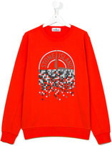 Stone Island Junior - logo print sweatshirt - kids - Cotton - 14 yrs