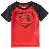 Under Armour Baby Boys 12-24 Months Home Plate Logo Raglan Short-Sleeve Tee