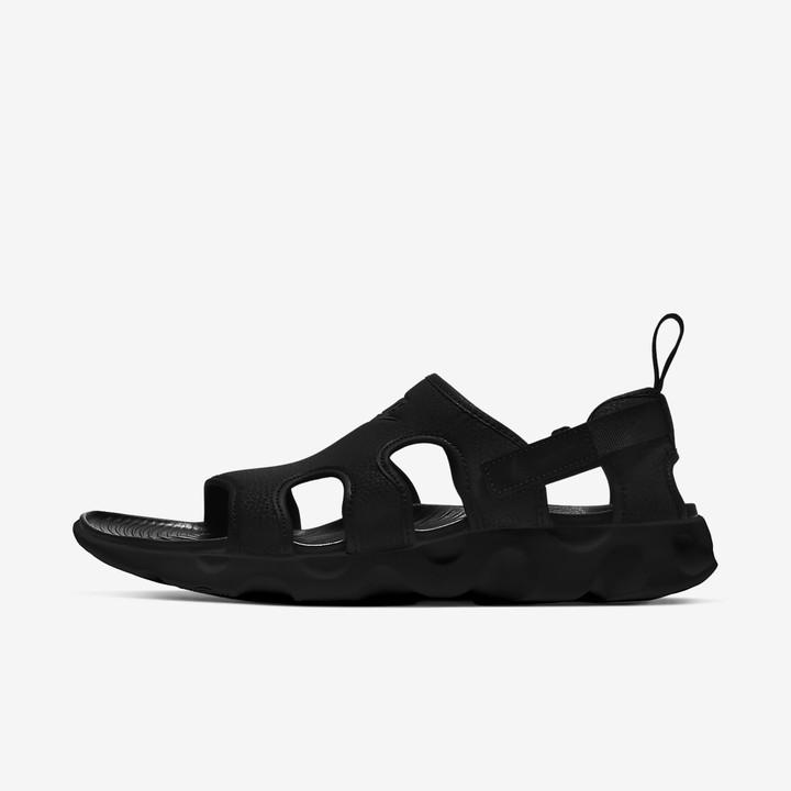 black nike sandals mens