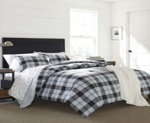 Eddie Bauer Lewis Plaid Atlantic Full/Queen Comforter Set