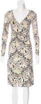 Emilio Pucci Silk Geometric Print Dress