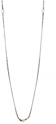 Stephen Webster Jewels Verne Womens Blackend Silver and Pearl Sautoir Necklace