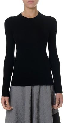 Proenza Schouler Black Silk-cashmere Blend Sweater