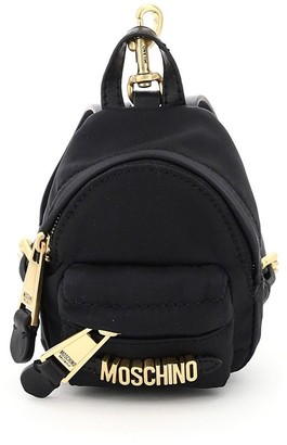 Moschino Logo Lettering Micro Chain Backpack