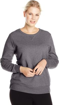 Just My Size Women's Plus-Size V-Notch Sweatshirt