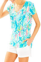 Lilly Pulitzer V-neck Patterned Tee