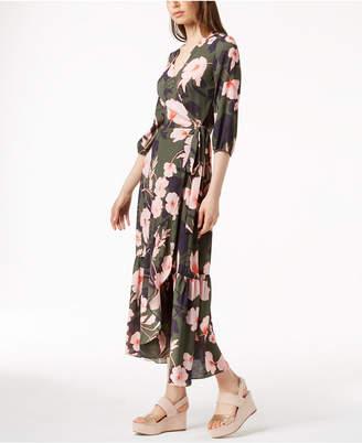 Bar III Printed Maxi Wrap Dress