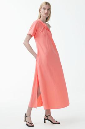 Cos Asymmetric Shoulder Detail Dress