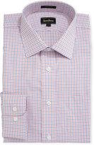 Neiman Marcus Dobby Check Dress Shirt, Orange