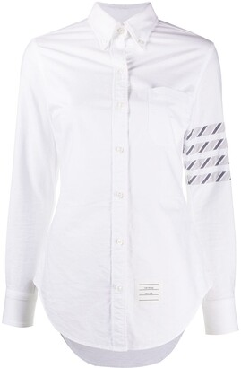 Thom Browne 4-Bar stripe long-sleeve shirt