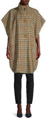 Burberry Gourock Check Wool Cashmere Poncho Jacket