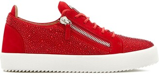 Giuseppe Zanotti Low Top Crystal-Embellished Sneakers