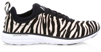 Athletic Propulsion Labs Women's Phantom Zebra-Stripe Calf Hair Leather Sneakers