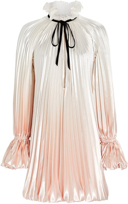 Philosophy di Lorenzo Serafini Pleated Tie-Neck Mini Dress