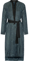 Proenza Schouler Printed Cotton And Silk-blend Dress - Gray green