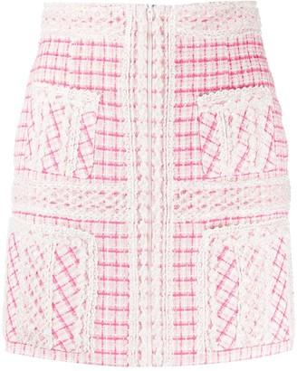 Loulou Bead-Embellished Mini Skirt