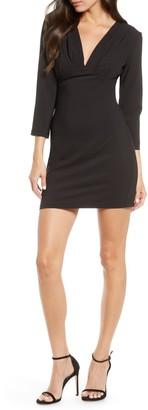 Fraiche by J Deep V-Neck Dress