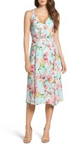 Adelyn Rae Women's Print Midi Dress