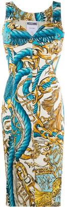 Moschino Chain And Rope Print Dress
