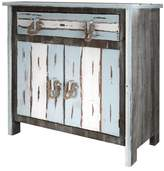 Stylecraft 2 Door Distressed Wood Cabinet with 1 Drawer - Distressed Gray