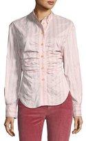 Isabel Marant Verona Striped Long-Sleeve Blouse