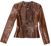 Ralph Lauren Black Label Embossed Leather Jacket