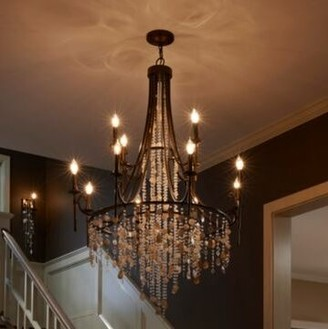 Rosdorf Park Fanning 12-Light Candle Style Tiered Chandelier