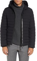 Mackage Men's Lux Water Repellent Hooded Down Jacket With Leather Trim