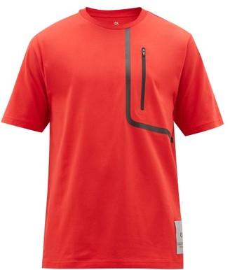 Calvin Klein Zip-pocket Cotton-blend Jersey T-shirt - Red