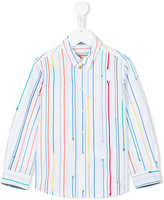 Paul Smith rainbow striped shirt - kids - Cotton - 8 yrs