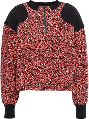Rebecca Minkoff Sara Floral-print French Cotton-terry Sweatshirt
