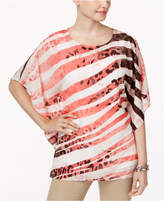 JM Collection Printed Chiffon Poncho Top, Only at Macy's