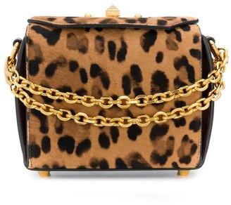 Alexander McQueen leopard print Box bag